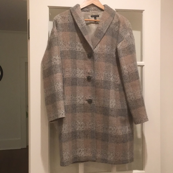 Eileen Fisher Jackets & Blazers - Eileen Fisher Plaid Topper Coat